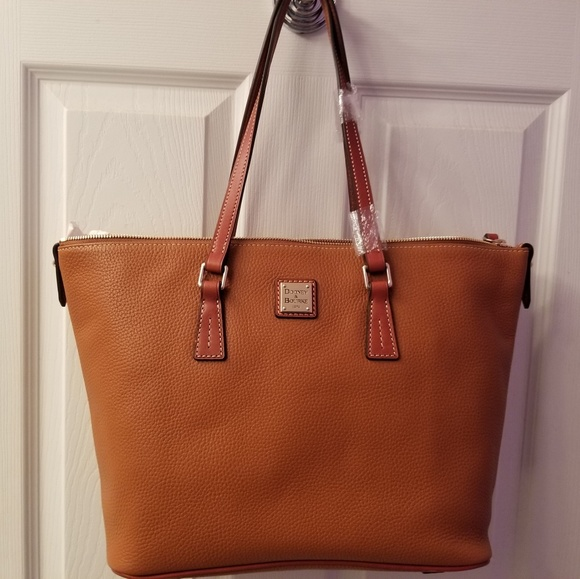 Dooney & Bourke Handbags - Dooney Zip Top Shopper NWT.